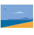 sea landscape and beach vector image