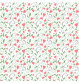 seamless love background wedding floral pattern vector image