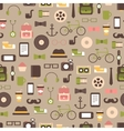 Seamless pattern of hipster colorful style vector image vector image