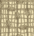 Seamless pattern of ropes grid with marine knotes vector image vector image