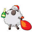 sheep - santa vector image vector image