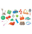 sport equipment set sports inventory vector image