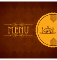 template for menu card with cutlery vector image vector image