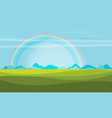 trendy rainbow creative with nature design vector image vector image