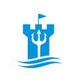 trident castle logo vector image