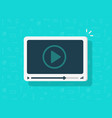 video player icon flat cartoon media vector image vector image