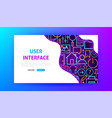 web user interface neon landing page vector image