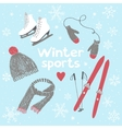 Winter sports and activities vector image vector image