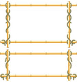 wooden frame of bamboo sticks swathed in rope vector image