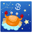 Zodiac signs -Cancer vector image