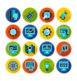 SEO and internet optimization flat icon set vector image