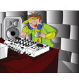 happy dj playing music vector image