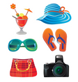 travel icon set on white vector image