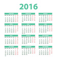 2016 Calendar - color design vector image