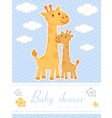 Baby shower card with giraffes vector | Price: 1 Credit (USD $1)