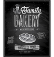 bakery chalk vector image vector image