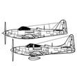 bell p-63d-e kingcobra vector image vector image