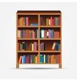 Bookcase icon vector image