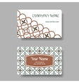 Business card set with floral chinese ornament vector image