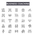 business coaching line icons for web and mobile vector image vector image