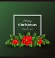 christmas holiday background vector image