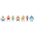collection robot characterartificial intelligence vector image