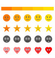 customer review and rating elements set vector image