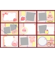 Cute templates for baby photo frames vector image vector image