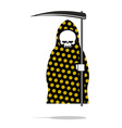 Death in black Pajamas with yellow flowers Grim vector image vector image