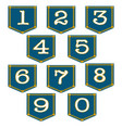 denim pocket numbers vector image vector image