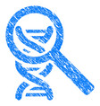 dna analysis grunge icon vector image vector image