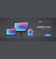 electronic devices mockup set laptop monitor vector image