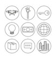 fintech industry design vector image