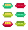 flat sofa icons set vector image