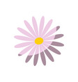 flower cute nature vector image