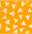 ghost halloween pattern scary vector image vector image