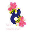 greeting card of happy womens day vector image vector image