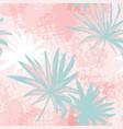 grunge palm leaves and transparent texture vector image
