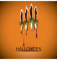 Halloween Festival Claw And Blood Background vector image