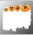 halloween web white grunge cartoon banner or vector image vector image