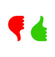 hand gesture with thumb up and down color icon vector image vector image