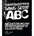 handwritten abc on black vector image vector image