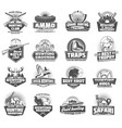 hunting club icons animals and ammunition vector image vector image