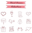 Icon of valentine day style collection vector image vector image