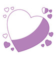 isolated cute big heart vector image vector image