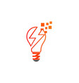 lightbulb energy electric logo vector image vector image