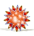 Magic Red Star vector image