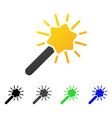 magic wand flat gradient icon vector image