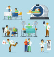 medical specialist set isolated therapist people vector image