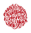 merry christmas and happy new year text vector image vector image